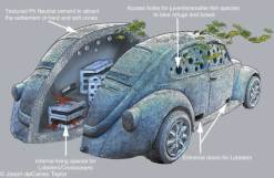 VW bug habitat plan. Jason deCaires Taylor.